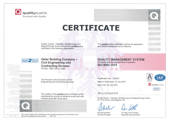 ISO 9001 2015 Quality Management System