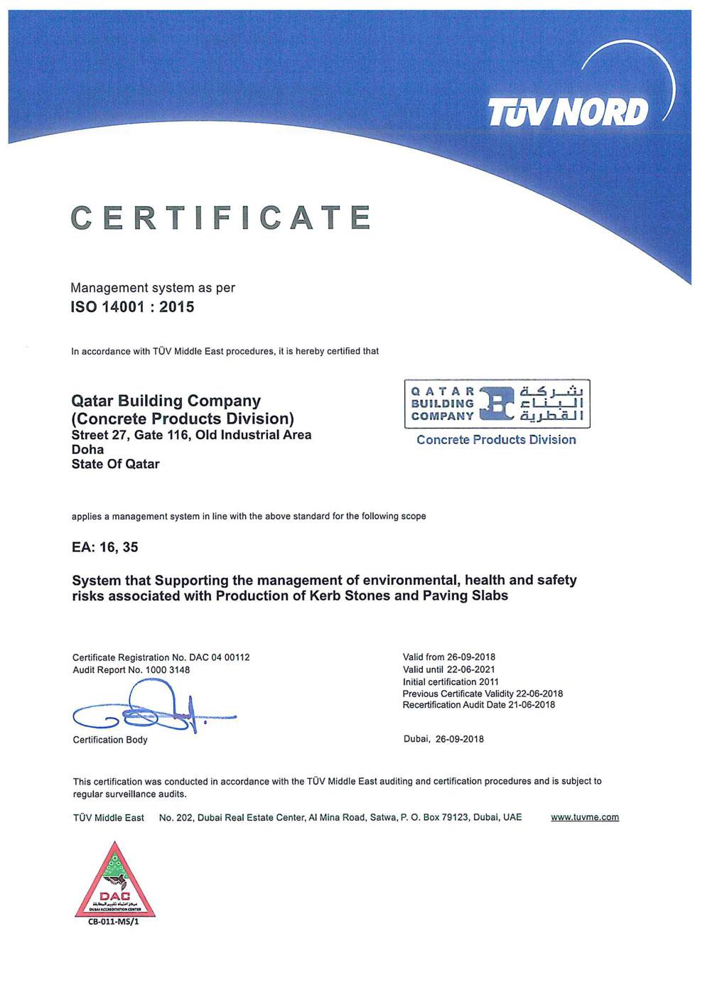Qatar-Building-Company-ISO-14001-2015