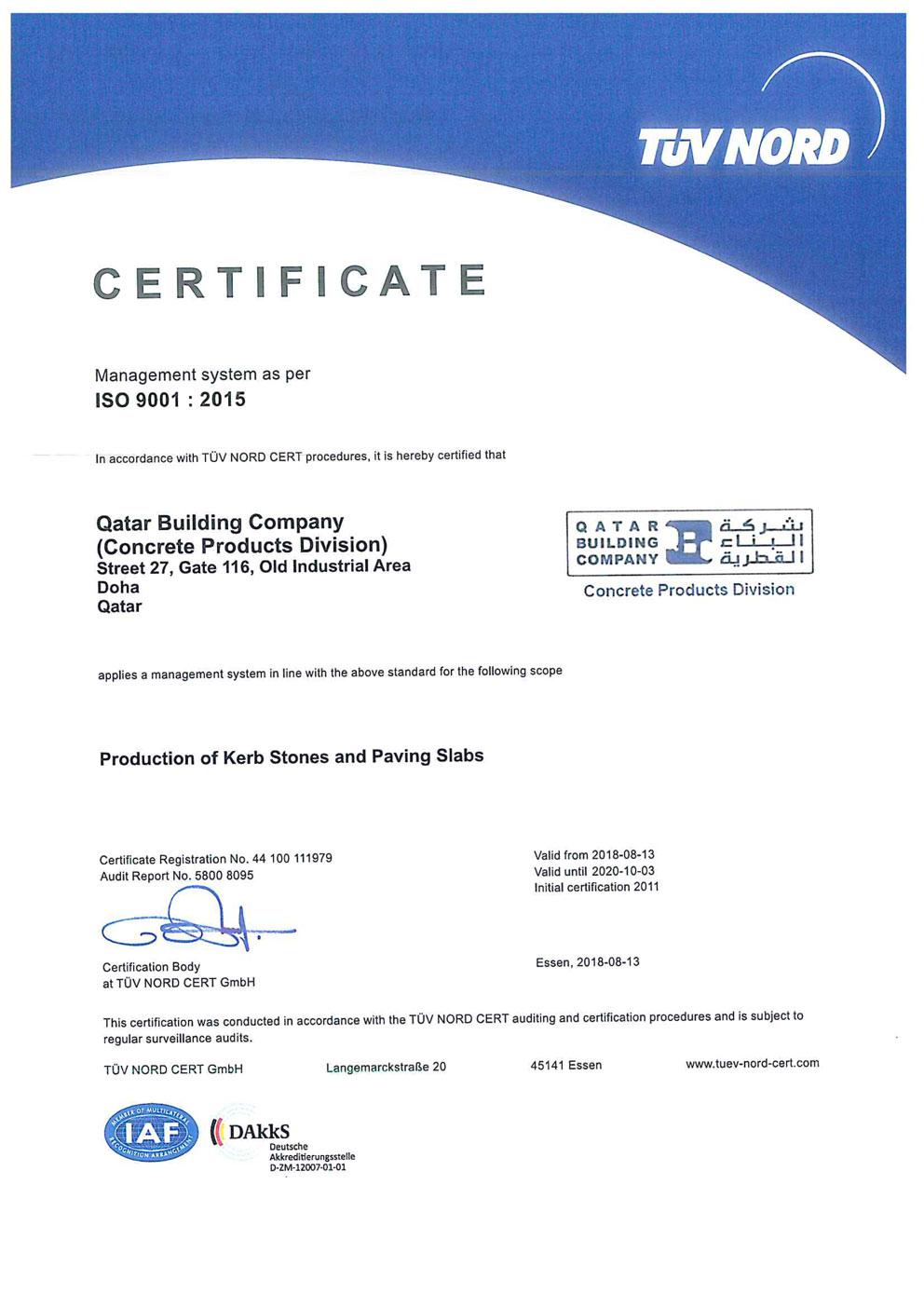 Qatar-Building-Company-ISO-9001-2015